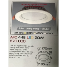 Đèn downlight led AFC 448 20W 1C