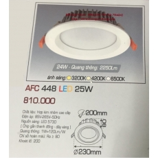 Đèn downlight led AFC 448 25W 1C