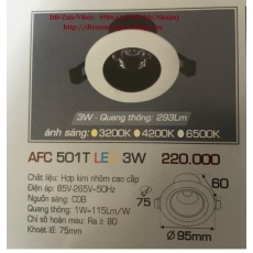 Đèn downlight led AFC 501T 3W 1C