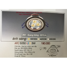 Đèn downlight led AFC 505D 3W 1C