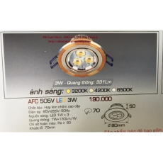 Đèn downlight led AFC 505V 3W 1C