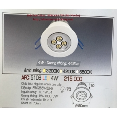 Đèn downlight led AFC 510B 4W 1C