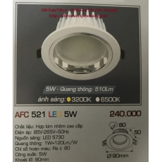 Đèn downlight led AFC 521 5W