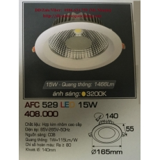 Đèn downlight led AFC 529 15W 1C