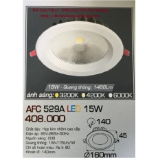 Đèn downlight led AFC 529A 15W 1C