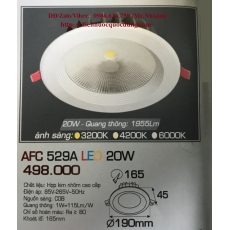 Đèn downlight led AFC 529A 20W 1C