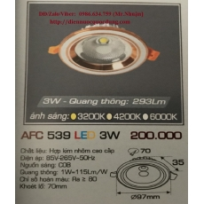 Đèn downlight led AFC 539 3W 1C