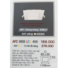 Đèn downlight led AFC 669 4W 1C