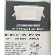 Đèn downlight led AFC 669 9W 1C