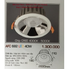 Đèn downlight led AFC 682 40W 1C