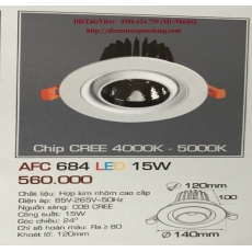Đèn downlight led AFC 684 15W 1C