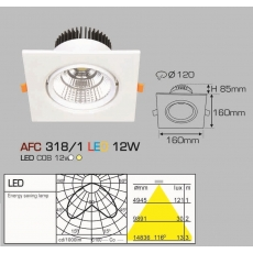 Đèn downlight led AFC 318/1 LED 12W