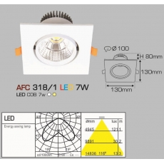 Đèn downlight led AFC 318/1 LED 7W