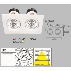 Đèn downlight led AFC 318/2 LED 12W