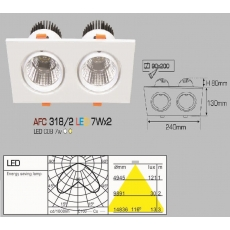 Đèn downlight led AFC 318/2 LED 7W