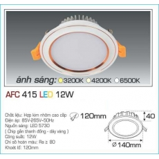 Đèn downlight led AFC 415 12W 1C