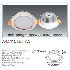 Đèn downlight led AFC 415 7W 1C