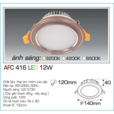 Đèn downlight led AFC 416 12W 1C