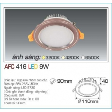 Đèn downlight led AFC 416 9W 1C