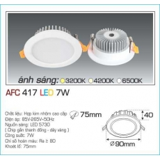 Đèn downlight led AFC 417 7W 1C