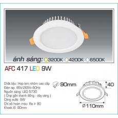 Đèn downlight led AFC 417 9W 1C