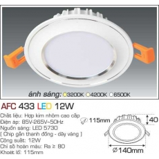 Đèn downlight led AFC 433 3C 12W