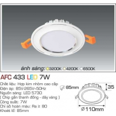 Đèn downlight led AFC 433 3C 7W