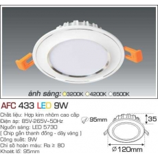 Đèn downlight led AFC 433 3C 9W