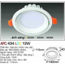 Đèn downlight led AFC 434 LED 12W