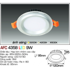 Đèn downlight led AFC 435B LED 9W