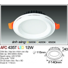 Đèn downlight led AFC 435T 3C 12W