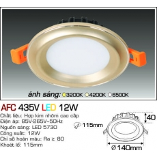 Đèn downlight led AFC 435V LED 12W