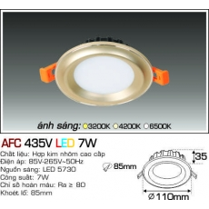 Đèn downlight led AFC 435V LED 7W