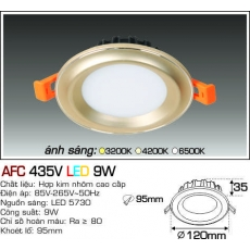 Đèn downlight led AFC 435V LED 9W