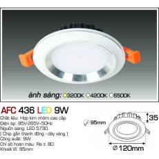 Đèn downlight led AFC 436 LED 9W