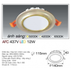 Đèn downlight led AFC 437V 12W 1C