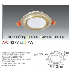 Đèn downlight led AFC 437V 7W 1C