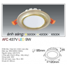 Đèn downlight led AFC 437V 9W 3C