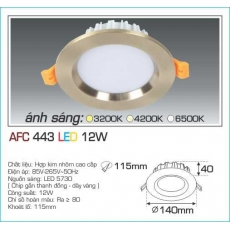 Đèn downlight led AFC 443 12W 1C