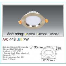 Đèn downlight led  AFC 443 7W 1C