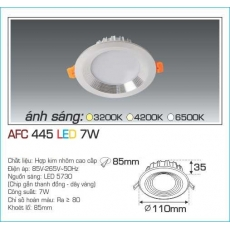Đèn downlight led AFC 445 7W 1C