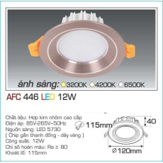 Đèn downlight led AFC 446 12W 1C