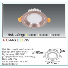 Đèn downlight led AFC 446 7W 1C
