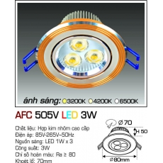 Đèn downlight led AFC 505V LED