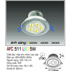 Đèn downlight led AFC 511 LED 5W