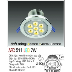 Đèn downlight led  AFC 511 LED 7W
