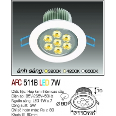 Đèn downlight led AFC 511B LED 7W