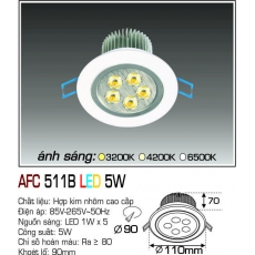 Đèn downlight led AFC 511B5W LED
