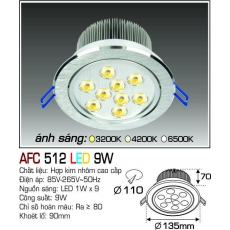 Đèn downlight led AFC 512 LED 9W