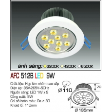 Đèn downlight led AFC 512B LED 9W